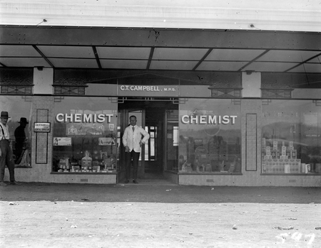 C T Campbell, chemist, Kennedy Street, Kingston.