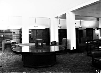Parliament House Library showing Queen Victoria's table