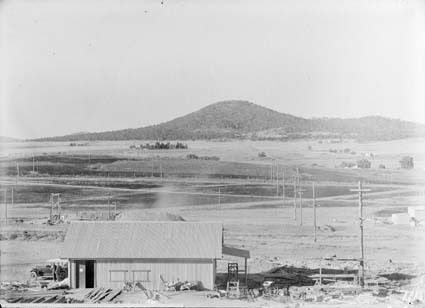 Mt Ainslie and St John's church from Parliament House, C1927
