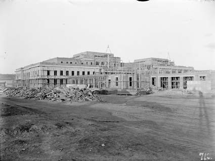 Parliament House from west - Under construction