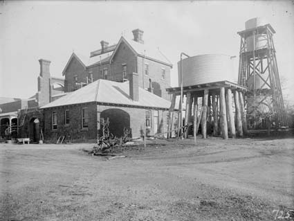 Government House, residence of the Govenor General, Yarralumla, showing water tanks