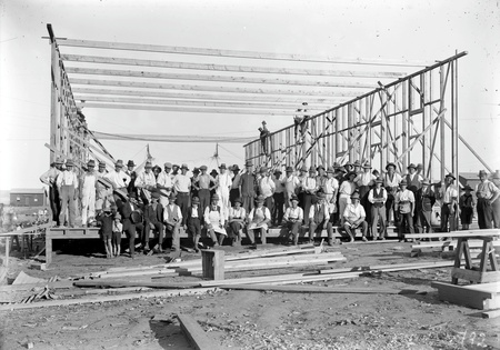 Group of volunteer workmen at Causeway Hall