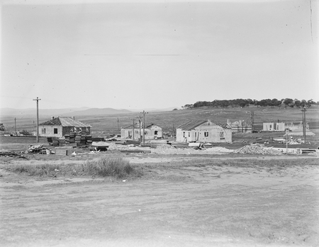 Concrete houses under construction in Griffith.