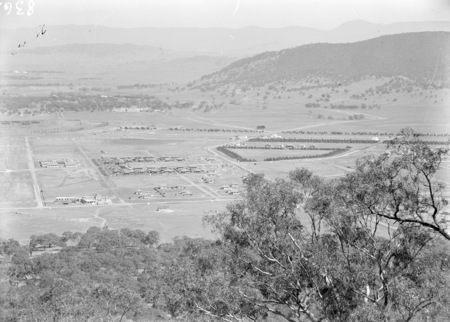 View from Mt Ainslie towards Civic, Ainslie Hotel on left.