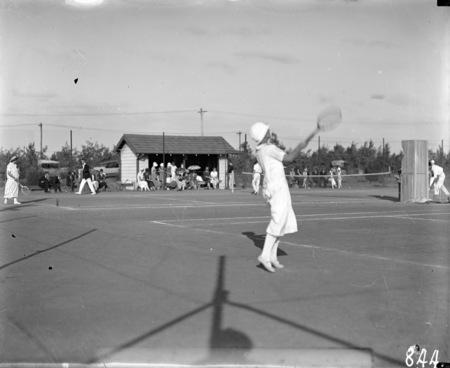 Tennis Match at Kingston Courts, Eastlake.