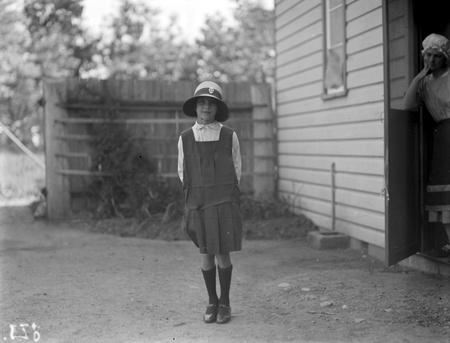 Adele Mildenhall in St Gabriel school uniform