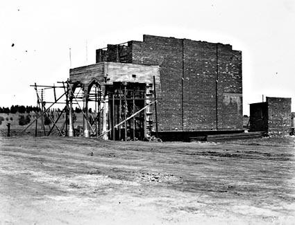 Civic Centre shop construction - First part of Sydney-Melbourne buildings, London Circuit