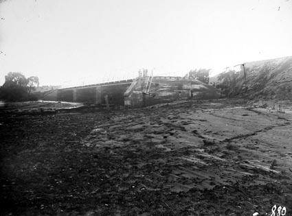 Commonwealth Avenue  Bridge flood damage