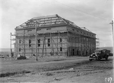 Capitol Theatre under construction.