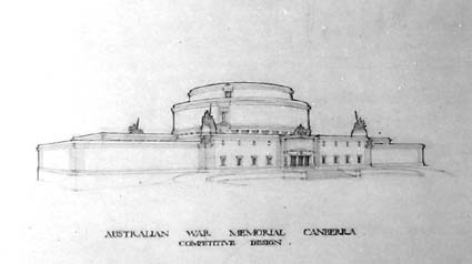 Architectural competition for the design of the proposed Australian War Memorial, entry 70