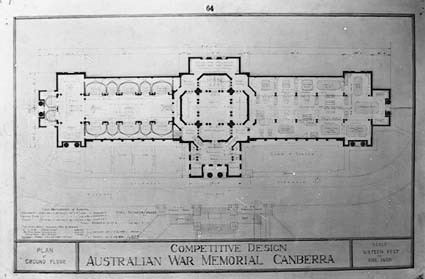 Architectural competition for the design of the proposed Australian War Memorial, entry 64