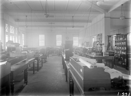 Interior of Acton offices - drawing office.