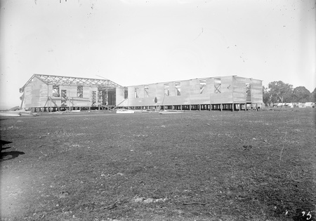 Temporary building and camp for construction of Parliament House.
