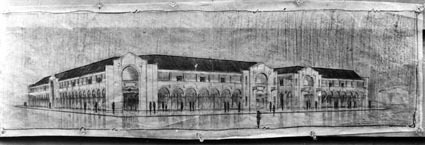 Perspective drawing for Civic Centre buildings
