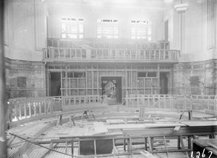 Parliament House - Senate chamber under construction