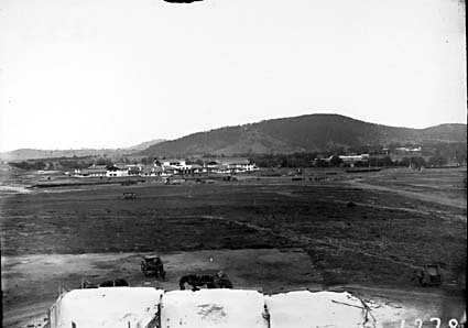 Hotel Canberra and Acton area from Parliament House
