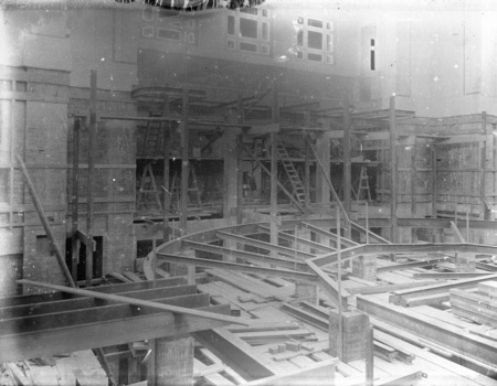 Parliament House chamber under construction