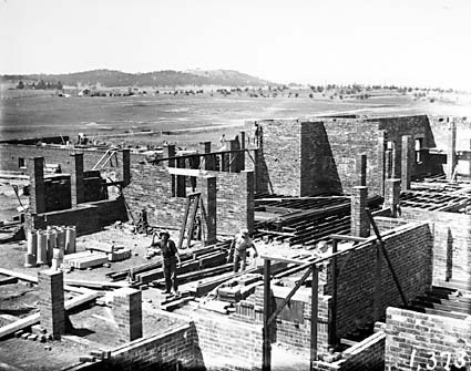 Hotel Acton under construction, looking to east