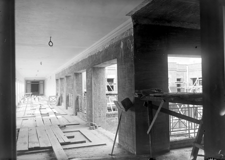 Parliament House inner balcony and courtyard, under construction