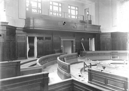 Parliament House under construction - Senate Chamber