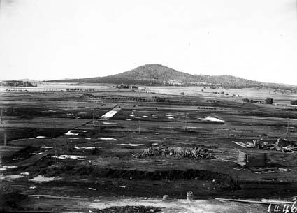 View from Parliament House towards Mt Ainslie