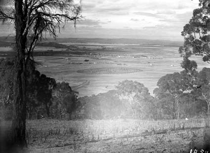 View from Red Hill over Kingston area to Duntroon,Collins Park in centre
