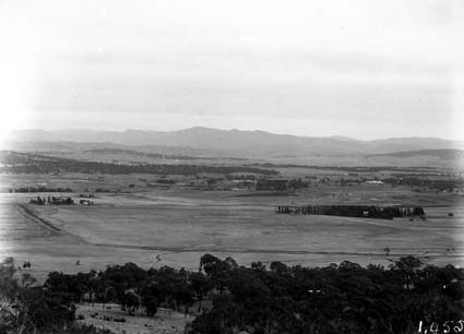 View from Mt Ainslie showing St Johns Church and Glebe House