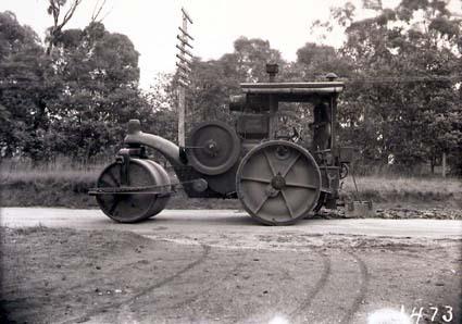 McDonald KV Model Imperial Super Diesel road roller at work