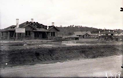 Oakley and Parkes Houses under construction in Blandfordia