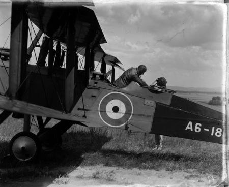 RAAF De Havilland DH9 2 seater aeroplane.
