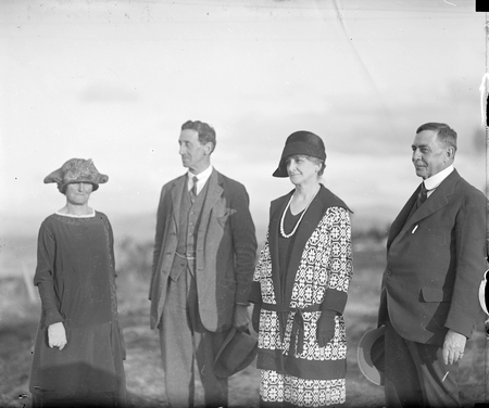 Sir Robert Garran and Lady Garran with Sir Littleton Groom and Lady Groom, Telopea Park.