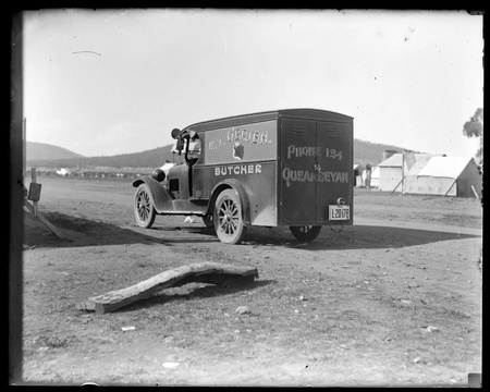 Motor van of W T O'Brien, butcher at Queanbeyan.