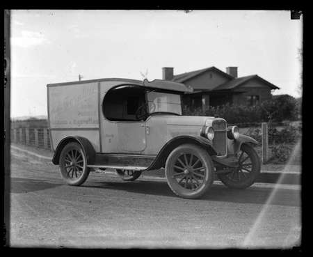 Motor delivery van of R H Thornhill Dairy Produce.
