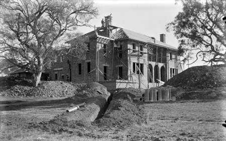 Prime Minister's Lodge, Adelaide Avenue, Deakin, under construction, from south east.
