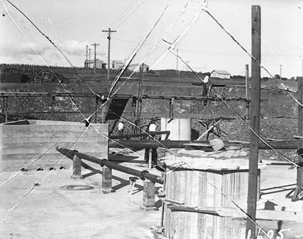 Weston Creek sewerage treatment works under construction