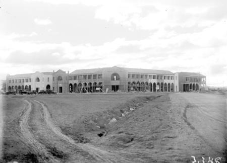 Civic Centre buildings under construction.