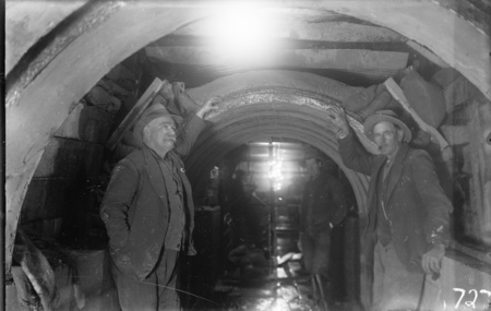 Main outfall sewer tunnel, under construction.