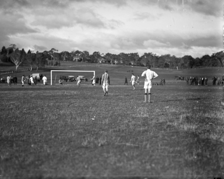 Soccer match at Acton Sports Ground.