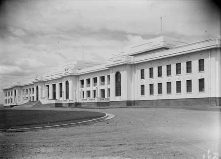 Parliament House frontage from the north west.