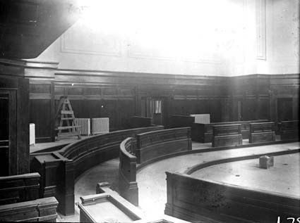Parliament House, one of the chambers under construction