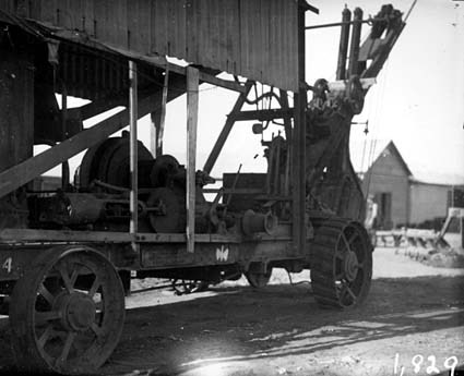 Winding gear and boom - Ruston and Proctor steam excavator