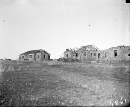 Cottages under construction