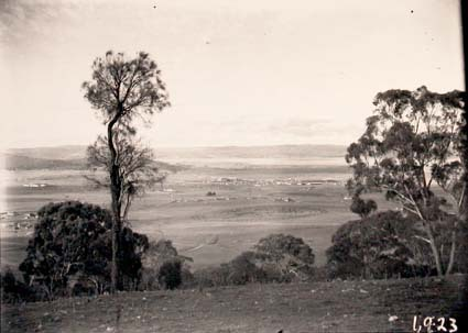 View from Red Hill across Manuka and Kingston to Duntroon