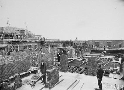 Parliament House roof, under construction