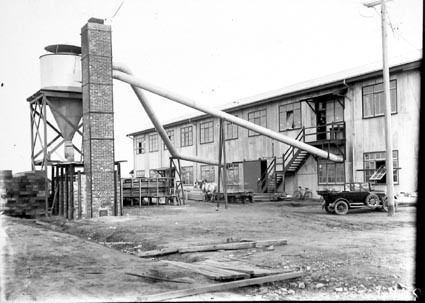 Sawdust exhaust and furnace at Joiners Shop, Kingston