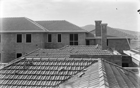 Detail of Hotel Acton roof, Edinburgh Avenue Acton, under construction.