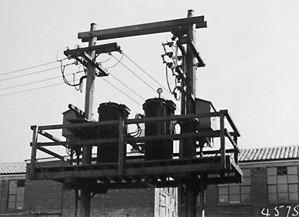Electrical substation with transformers and switch gear