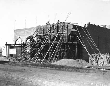 Part of Civic Centre under construction