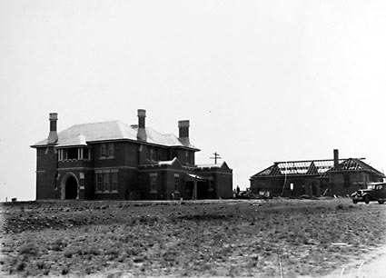 St Andrew's House and the Beadles cottage ,under construction .Completed June 1929 ,Builder Spenlane, State Circle ,Forrest