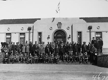 Group Photograph, Conference delegates at Australian Forestry School,Banks Street, Yarralumla